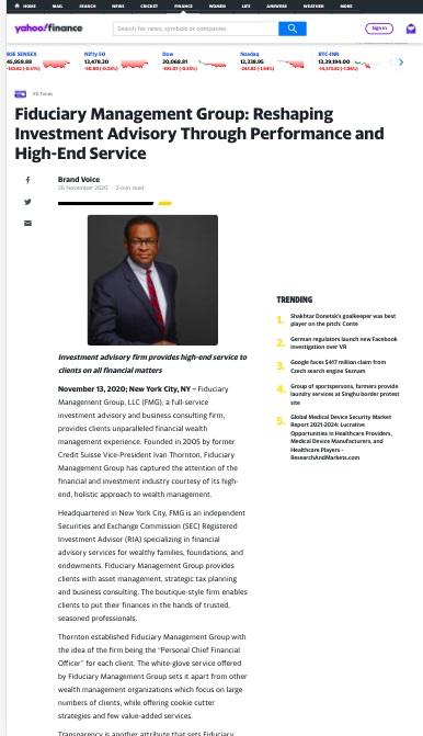 Ivan Thornton Media Press Release